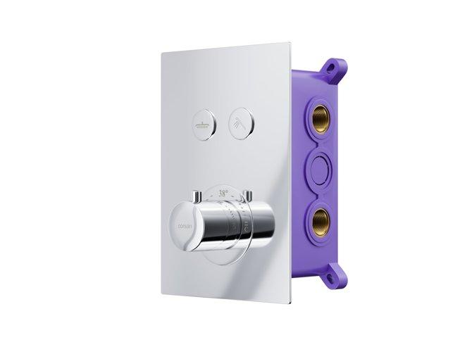 Prysznicowa bateria podtynkowa z termostatem i przyciskami funkcyjnymi Corsan BT02CH