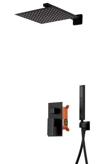 Prysznicowy zestaw podtynkowy Corsan Z01MBL czarny