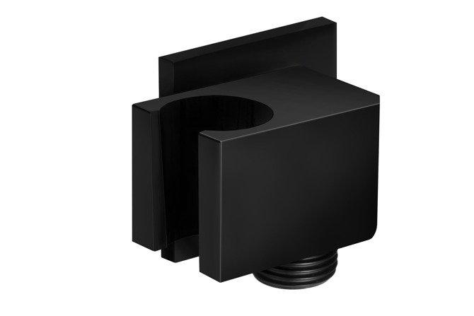 Uchwyt prysznicowy Corsan CMU006 z przyłączem do słuchawki prysznicowej czarny